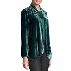Eileen Fisher Green Angled Jacket, XXS